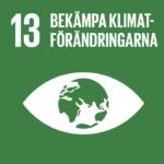 Öga med jorden som pupill. Globalt mål: Bekämpa klimatförändringarna