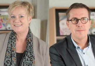 Porträttbild av Lisa Oldmark och Marcus Strömberg bredvid varandra