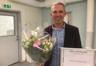 Johan Skeppstedt är årets samhällsaktör