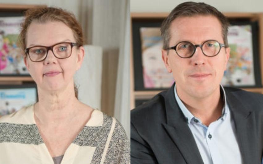 Porträttbild av Paula Hammerskog och Marcus Strömberg bredvid varandra