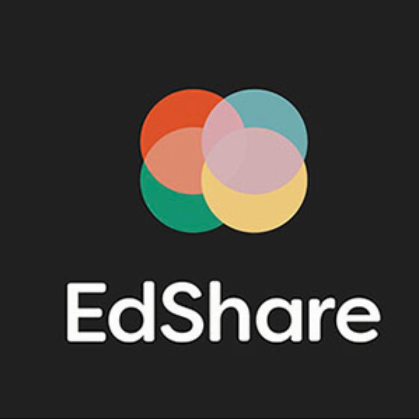 Edshare logotype på svart bakgrund