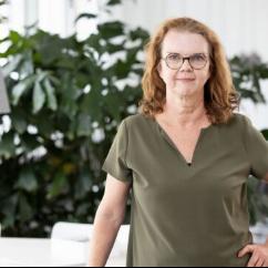 Porträtt på Kommunikationsdirektör Paula Hammerskog